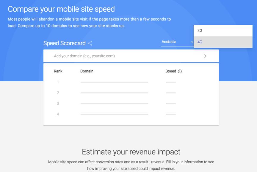 google speed scorecard
